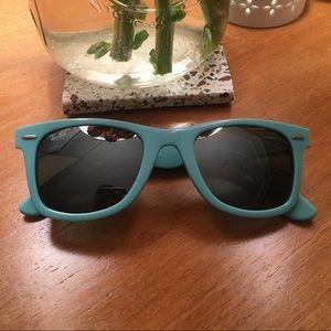 Turquoise Wayfarer Ray Ban Sunglasses